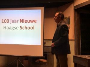 Gastles architecuurhistoricus  Marcel Teunissen over de Nieuwe Haagse School, 17 december 2018. Foto Ron Sikking