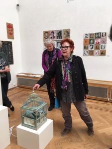 Marijke Gemessy vertelt over haar werk in Pulchri Studio Den Haag. 14 mei 2019