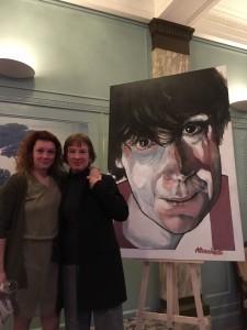 Met Pauline Greidanus. Onthulling portret Sacha Bulthuis, Koninklijke Schouwburg Den Haag. 11 december 2018