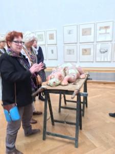 Marijke Gemessy vertelt over haar werk in Pulchri Studio Den Haag, 14 mei 2019