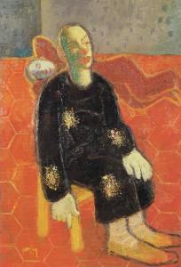 Jan van Heel, Twee clowns, 1947, olieverf op doek, 100 x 70 cm.