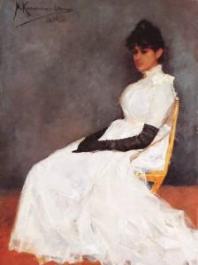 Menso Kamerling Onnes, portret van Jenny Kamerlingh Onnes, ca. 1885