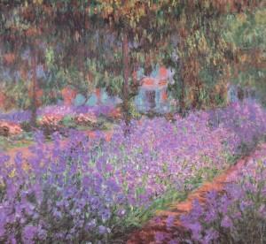 Irissen in de tuin van Monet, 1900. Olieverf op linnen, 81 x 92 cm. Parijs, Musée d'Orsay