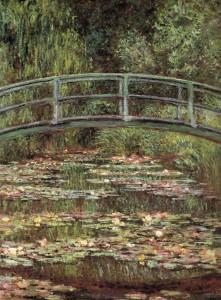 Claude Monet, De Japanse brug, 1899. Olieverf op linnen, 92,7 x 73,7 cm. MOMA New York